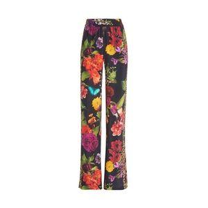 NWT Alice + Olivia Benny Wide Leg Floral Pants